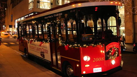 """Holiday Lights trolley Find out if the trolley does indeed go """"clang! clang! clang!"""" while you enjoy the nighttime sights of the city, all decked out in holiday splendor. The 2.5-hour tour includes stops at the lit-up Lincoln Park Zoo and Daley Plaza's Christkindlmarket. Chocolate bonus: The tour ends with complimentary hot cocoa and cookies at Hershey's Chocolate World. Advance registration recommended. Nov. 28-Jan. 4 from John Hancock Plaza, 875 N. Michigan Ave. Hours vary by date. $29; $19 children ages 3-11; tickets must be purchased at least 24 hours in advance. (773-648-5000, coachusa.com/chicagotrolley)."""