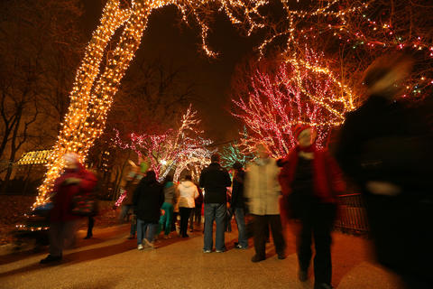 ZooLights Stroll through Lincoln Park's colorful wonderland when ZooLights flips the switch for its annual — and free — holiday tradition. Luminous trees add enchantment to photos with Santa, holiday crafts, 3-D displays, ice carving nightly, ice-skating at the Farm-in-the-Zoo and, for parents, warm spiced wine and frosty lager. Bring new or gently used winter clothing to donate to the zoo coat drive; drop-off is at the Park Place Cafe. 4:55 p.m. kickoff Nov. 28 then Fridays through Sundays until Dec. 12, at which point the lights will be on nightly (except Dec. 24 and 25) until Jan. 4 at Lincoln Park Zoo, 2001 N. Clark St. (312-742-2000, lpzoo.org). Free. Ice skating at farm: $5 admission; $5 skate rental.