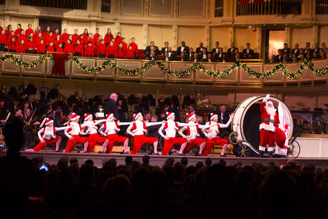 at orchestra hall singalongs and traditional christmas tunes are part of