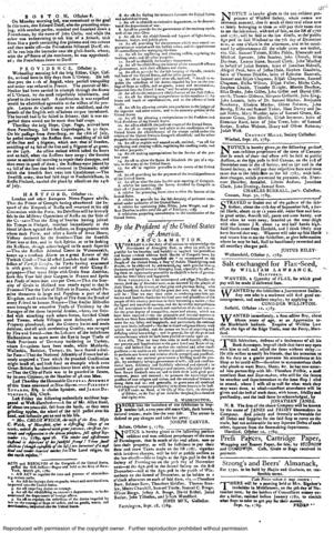 """On Oct. 3, 1789, President George Washington proclaimed that Nov. 26, 1789 would be """"a day of Public Thanksgiving and Prayer, to be observed by acknowledging with grateful hearts, the many and signal favors of Almighty God,"""" the first national day of thanksgiving."""