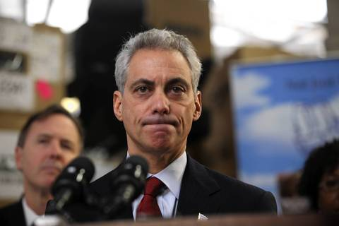 Chicago Mayor Rahm Emanuel becomes emotional as he talks about a conversation he had in the morning with the mother of slain 15-year-old girl Hadiya Pendleton.