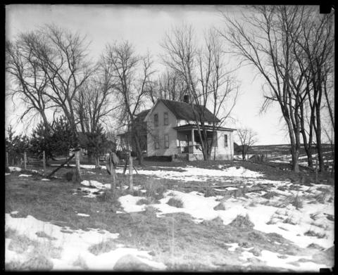 The home of Erdman Olson, near Mount Sterling, Wis., was six miles from where the body of Clara Olson was found Dec. 2, 1926. Photo was taken in December 1926.