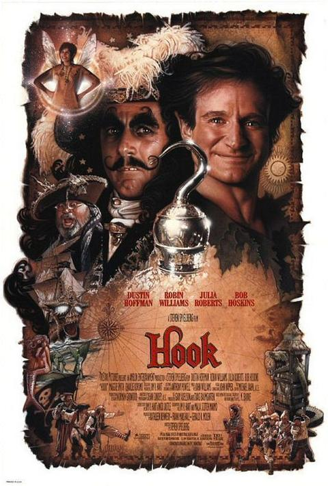 The Steven Spielberg-directed film follows a grown-up Peter Pan, now a lawyer named Peter Banning, who returns to Neverland to save his children after Captain Hook kidnaps them.