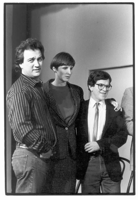 """Mary Gross, center, was born in Chicago and was the sister of Michael Gross, who was in the 1980s sitcom """"Family Ties."""" She performed at The Second City in 1979 and was a """"Saturday Night Live"""" cast member from 1981-1985. She was one of the very first to co-anchor SNL's """"Weekend Update."""""""