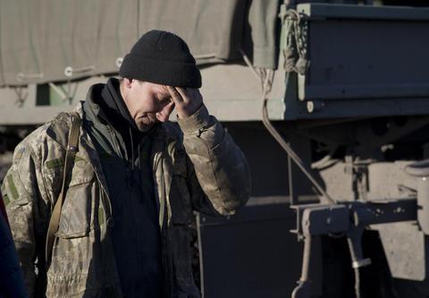 After weeks of relentless fighting, the embattled Ukrainian rail hub of Debaltseve fell to Russia-backed separatists Feb. 18, 2015.