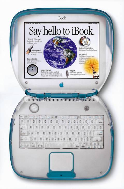 Apple iBook in 1999.