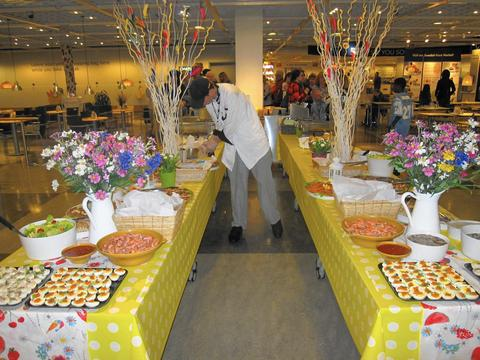 """Påskbord, the Swedish Smörgåsbord at Ikea If your kids are consumed with Viking lore after visiting the Field Museum exhibit, plan your own """"Viking"""" to Ikea for its annual Paskbord feast. Raid the all-you-can-eat buffet piled with Swedish meatballs, smoked salmon, lingonberries, Swedish ham, dozens of cookies and much more. Between courses at the Bolingbrook store, kids (and adults too!) can make a Paskris branch, inspired by a Swedish Easter tradition in which feathers and sometimes eggs are attached to the tips of birch twigs, which are then displayed in a vase. For the local spin on this craft, each child will be able to make one or two Paskris branches to take home with them. 5-8 p.m. March 27 at Ikea's two area locations: 750 E. Boughton Road, Bolingbrook, and 1800 E. McConnor Parkway, Schaumburg (ikea.com). Advance purchase recommended. $16, $5 for kids 12 and under."""