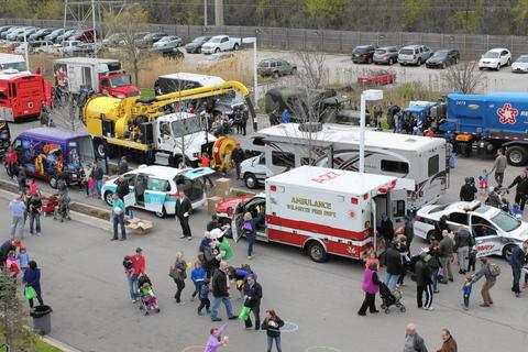 Touch-a-Truck Family Festival Sponsored by the Kohl Children's Museum, this event in Northfield features all sorts of festival fun, including a DJ and kiddie train ride. But if you have a little vehicle fanatic in the family, all he or she will care about is the opportunity to safely sit in more than 30 kinds of gigantic trucks -- fire engines, dump trucks, semis and tractors among them. 11 a.m.-2 p.m. May 3 at Fields BMW, 700 Frontage Road, Northfield (847-832-6600, kohlchildrensmuseum.org). $35-$40 for a family of up to 6. Advance purchase highly recommended.