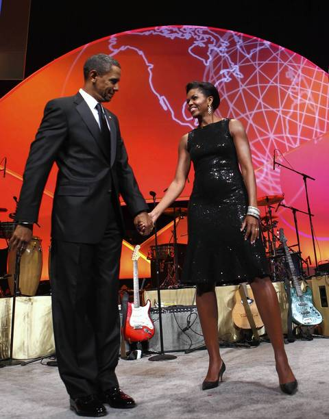 Pres. Barack Obama and first lady Michelle Obama attend the Congressional Hispanic Caucus Institute (CHCI) dinner in Washington, D.C.