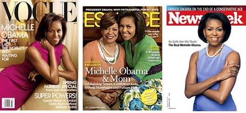 First lady Michelle Obama appears regularly on magazine covers.