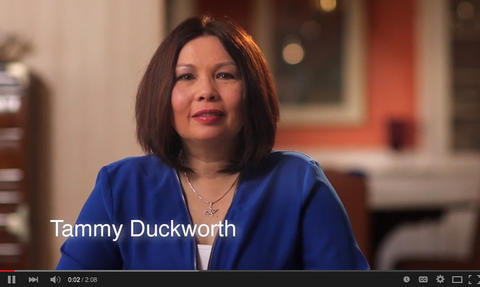 U.S. Rep. Tammy Duckworth announces her candidacy for the Senate via a video message March 30, 2015.