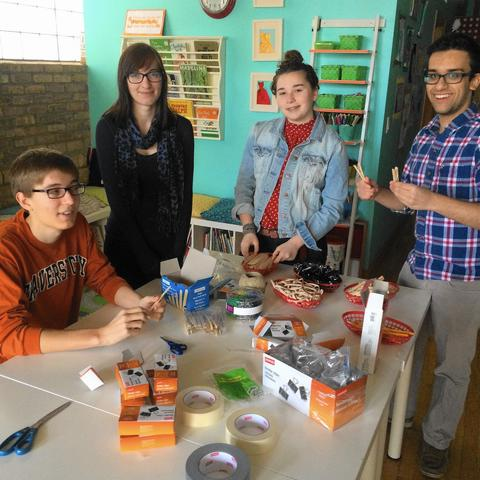 9-Volt Nosegays at Wishcraft Workshop Anyone can give pretty flowers, but it would be oh-so illuminating to see the results of a battery-powered bouquet. The creative minds behind the Wishcraft Workshop collaborate with members of Lane Tech High School's Varsity Robotics Team to teach third- through sixth-graders how to build the galvanized gift. Pretty bright idea! 1-4 p.m. April 19 at the Wishcraft Workshop, 3907 N. Damen Ave. (773-348-9474, growartists.com). $35.