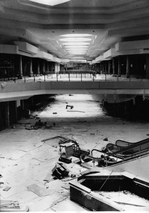 July 20, 1971: The interior of Woodfield Mall during its construction.