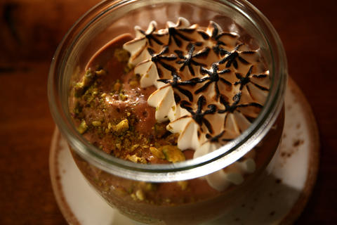 The $9 pistachio s'mores jar at State & Lake Chicago Tavern is a twist on a childhood classic. Instead of the traditional recipe, fluffy Valrhona is combined with chocolate mousse, creamy pistachio custard, toasted marshmallow and graham crunch. (201 N. State St., 312-239-9400) -Leah Pickett