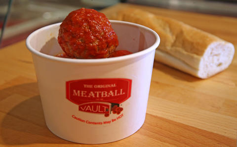 At the Original Meatball Vault, located at the Chicago French Market, the strategy is to focus on one product: the mighty meatball. Customers can assemble four varieties of meatballs in various vehicles. (131 N. Clinton St.)- Kevin Pang