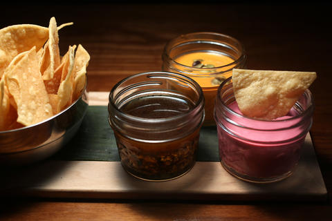 Kokopelli, a reproduction of a taco joint in Tijuana with the same name, stands out for its seven house salsas, which can be ordered individually, as a pair or as a trio. Absolutely go for three ($6.50) (1324 N. Milwaukee Ave., 773-698-7670) - Jessica Reynolds