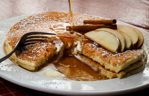 Sweet Maple Cafe in University Village houses a cornucopia of breakfast delights, such as the Apple Spice pancakes. This $8.95 stack is what autumn morning dreams are made of. (1339 W. Taylor St., 312-243-8908)- Leah Pickett