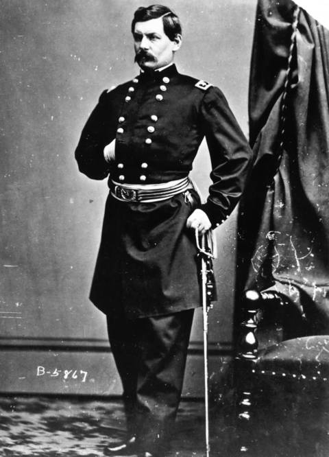 Union Gen. George McClellan was put in command of the Army of the Potomac in 1861. McClellan was twice given command of the Union Army and twice relieved of his command because disagreements over strategy with President Abraham Lincoln. In 1864 he ran for president as the Democratic Party nominee but was defeated by Lincoln.