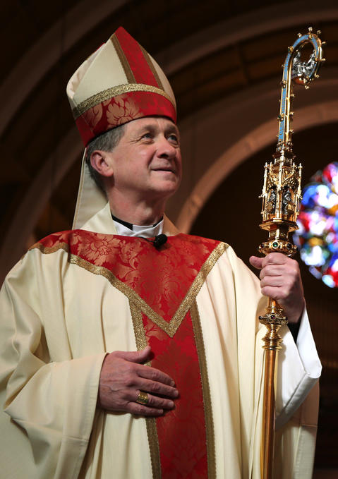 Bishop Blase Cupich at his last Sunday Mass in Spokane, Wash., on Nov. 2, 2014, before heading to Chicago to succeed Cardinal Francis George as the leader of the Archdiocese of Chicago.