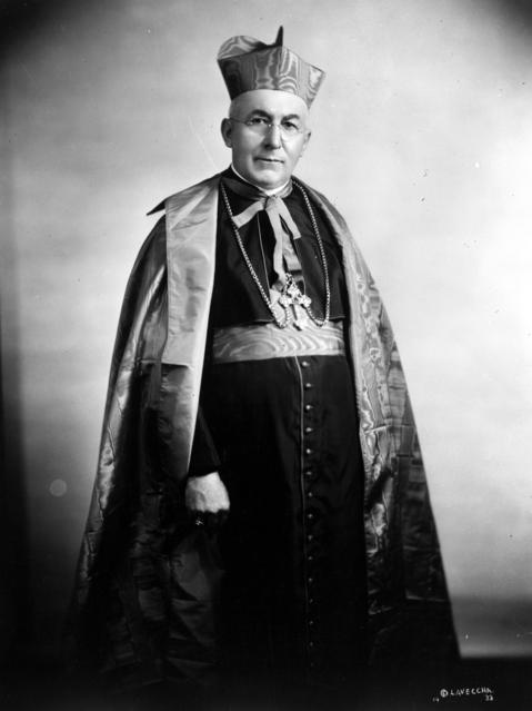 Cardinal George Mundelein in his official portrait in 1933. Mundelein was archbishop of Chicago from 1915 to 1939. He was elevated to cardinal in 1924.
