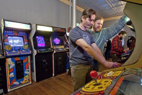 Get retro with arcade games at Logan Arcade, 2410 W. Fullerton Ave.