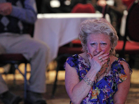 A woman weeps after Fox News declares President Barack Obama the winner of the 2012 election. The woman was attending a Republican election night party at the Holiday Inn Express in Janesville, Wis., the hometown of GOP vice presidential nominee Rep. Paul Ryan. Go here to read the story.