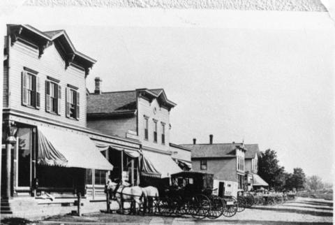 1905: A street scene from Mundelein, Ill., then called Rockefeller.