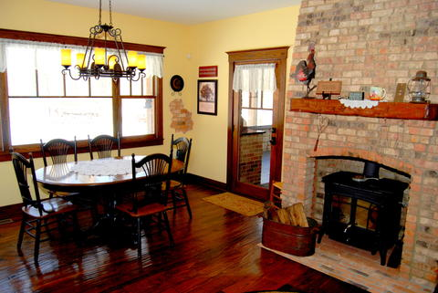 Price: $1,195,000. Square footage: Approx. 6,000. Year built: 2006. Amenities: Two acre forest preserve property, master bedroom suite, hand-scraped flooring, cathedral ceilings, stone fireplace, enclosed porch.