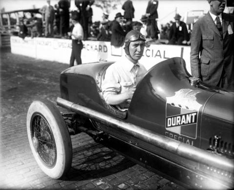 """Race car driver James """"Jimmy"""" Murphy in a Durant Special. Murphy won the French Grand Prix in 1921 on a rough road with two broken ribs. The next year he won the Indianapolis 500 in 1922."""