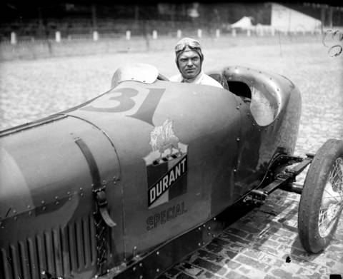 German race car driver Christian Werner at the Indianapolis speedway in 1923. Werner's only try at the Indy 500 was in 1923. He finished 11th.