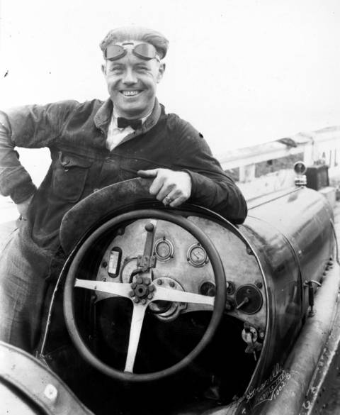 """Phil """"Red"""" Shafer, auto driver in the Indianapolis 500 in 1925. Shafer raced seven times in the Indy 500 starting in 1925, which he finished in third place."""