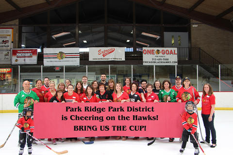 Park Ridge Park District cheers on the Chicago Blackhawks!
