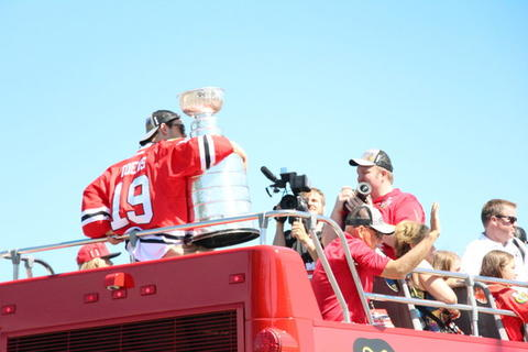 The Captain having a special moment with Stanley (Cup).
