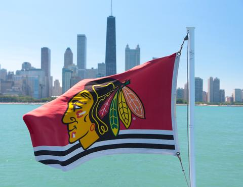 Celebrating the Blackhawks Stanley Cup victory in a terrific city!