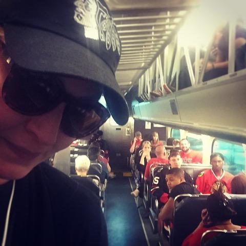 Train is already FULL after first 3 stops in Elgin - ¿#‎GoHawks¿ ¿#‎OneCity¿ ¿#‎peopleofmetra¿ ¿#‎LFDaily¿ ¿#‎Blackhawks¿
