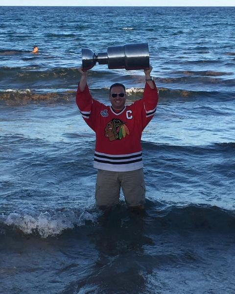 Moved to Ft Lauderdale six months ago. Had to take the cup for a dip in the Atlantic Ocean!!!!