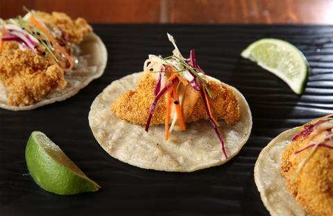 Catfish Tacos at Luella's Southern Kitchen, 4609 North Lincoln Avenue.