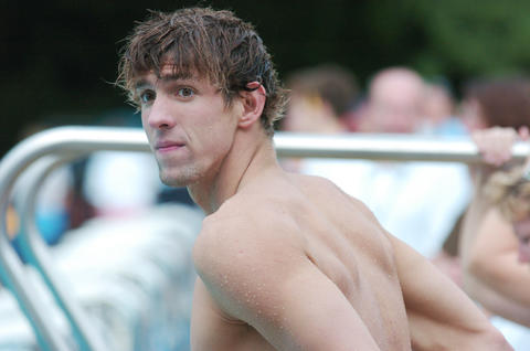 Michael Phelps photographed during a swim at the NBAC in June of 2014.