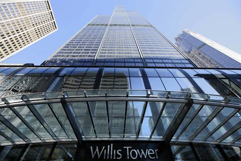 The Willis Tower was deemed the second-tallest building in the U.S. after the Council on Tall Buildings and Urban Habitat announced that New York City's One World Trade Center building would be the tallest building in the United States upon completion and occupancy.