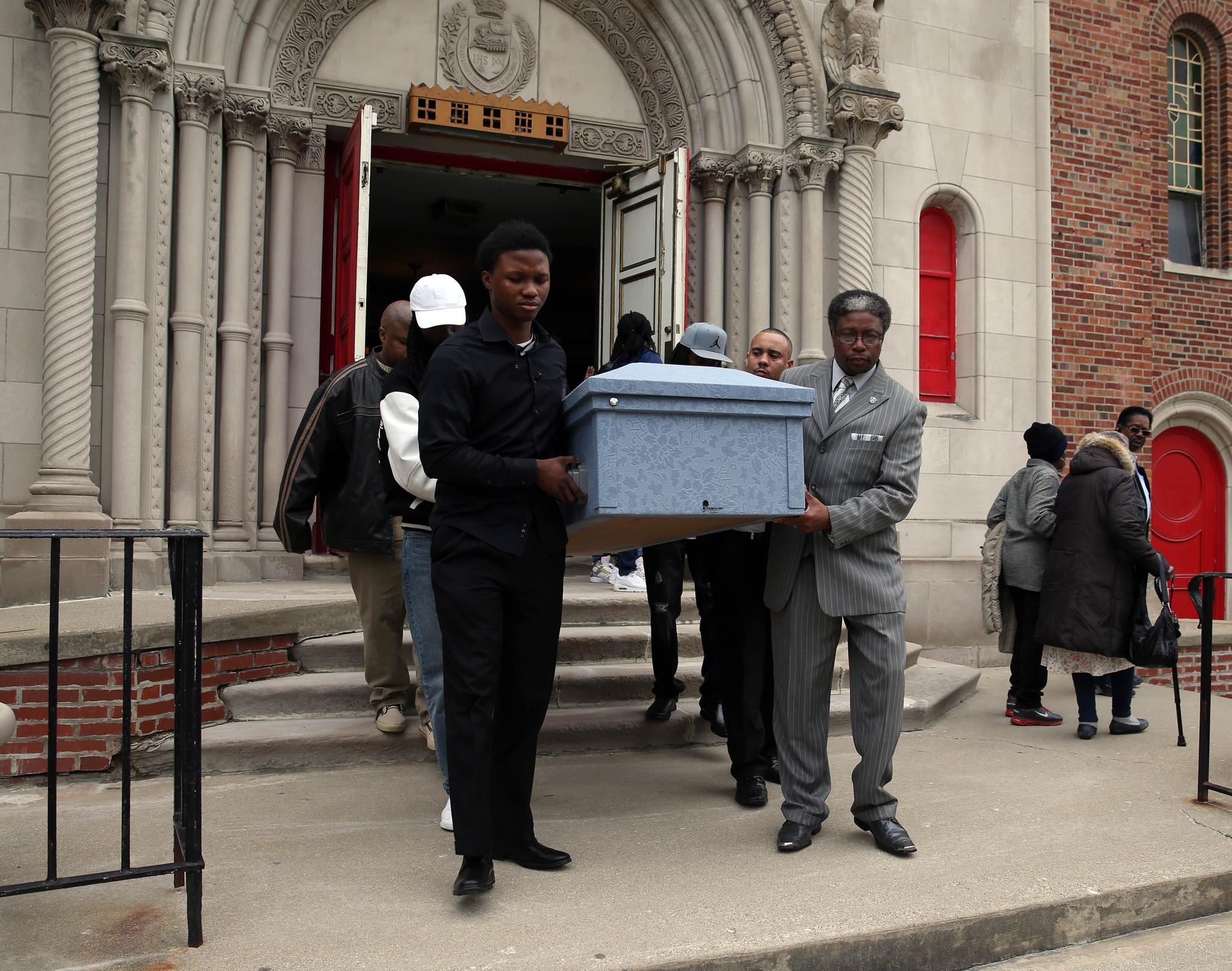 Amari Sutton's funeral