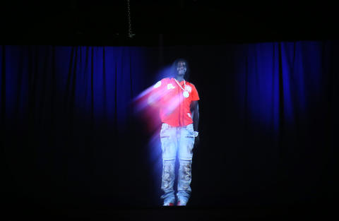 Chief Keef's hologram concert in Hammond on July 25, 2015, was stopped soon after it started, but he still had time for a wardrobe change.