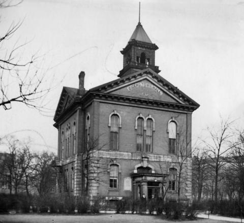 Cicero's old town hall at 5600 W. Lake St. just a few days before it was set to be razed to make way for a new community center in 1928.