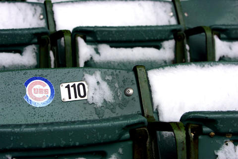 The Cubs' game against the Houston Astros was canceled because of snow in 2007.