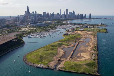 Northerly Island under development July 3, 2014.