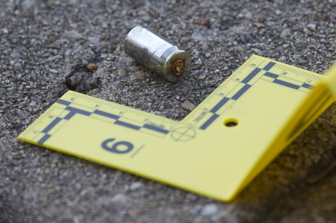 One of several bullet casings litter the ground at the scene of an early morning homicide at 790 Old Oyster Point Road in Newport News. The homicide occurred about 6:10 a.m. at Abbington Landing apartments 790 Old Oyster Point Road, said Sgt. Randy Rajkumar. Police found the man, 39-year-old Nathaniel Leon Morrison in the parking lot with multiple gunshot wounds. Morrison was pronounced dead at the scene, Rajkumar said.