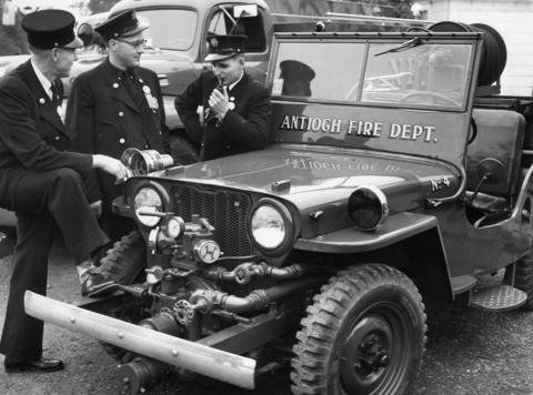 Members of the Antioch Fire Department in 1952.