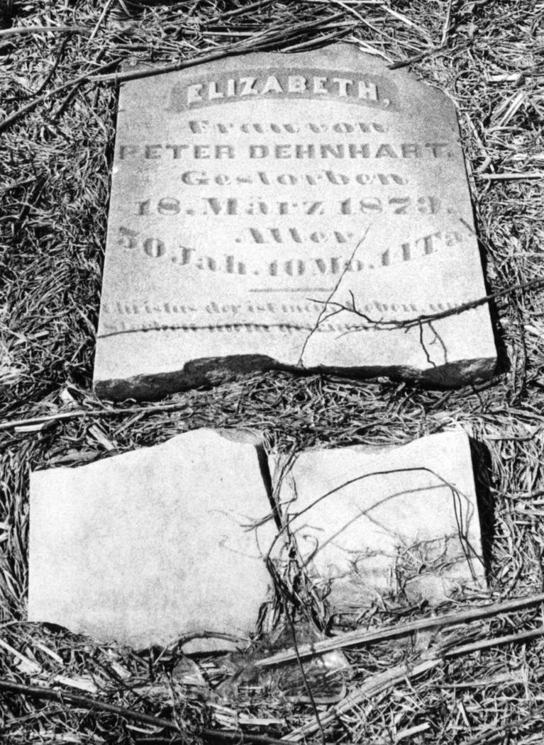 1972 A Broken Headstone Lies Neglected In An Orland Park Cemetery On Harlem Ave