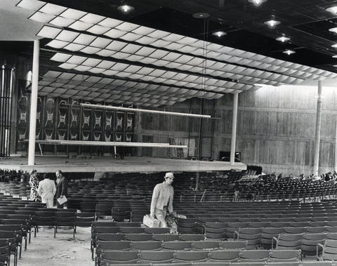 1970: Construction is in progress on a new Ravinia stage.