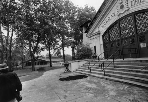 1974: A shot of the Murray Theater, which is the only remaining structure from Ravinia's original construction.