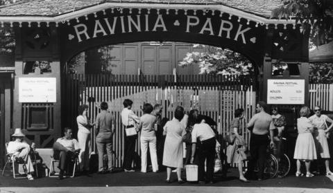 1983: Music lovers line up outside the park's gates with lawn chairs and coolers to buy tickets to the premiere of the festival's 1983 season.